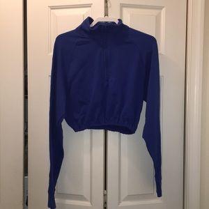 Urban Outfitters: Blue BDG Half Zip Top